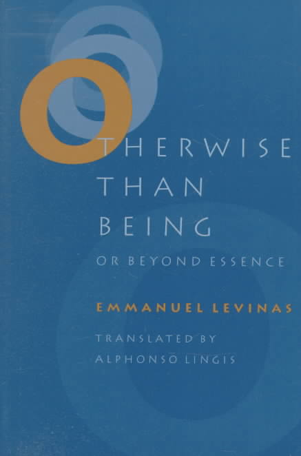 Otherwise Than Being By Levinas, Emmanuel